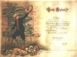 Bild 1: Preis-Diplom, Stadtilmer Anzeiger, 25.08.1900