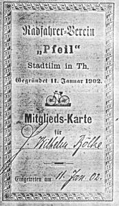Bild 3: Mitgliedskarte von Herrn Wilhelm Bölke